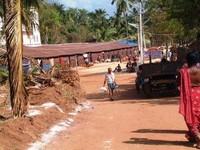 le case temporanee e le strade cosparse di cloro