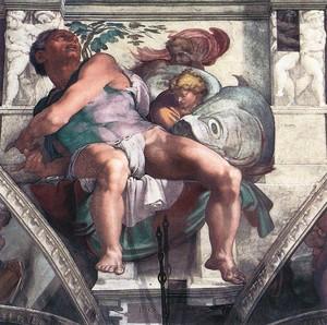 Il profeta Giona, Michelangelo, Cappella Sistina.