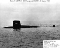 Il sottomarino USA a propulsione nucleare Scorpion: poteva esplorere a Taranto o a Napoli nel 1968 ma il caso ha voluto che esplodesse al largo delle Azzorre in quello stesso anno.