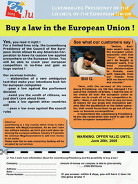 Sarcasmo sulla UE