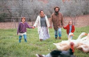 Foto di una famiglia nonviolenta gandhiana