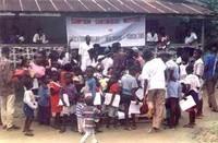 Attività di animazione con i bambini del progetto AIFO Liberia