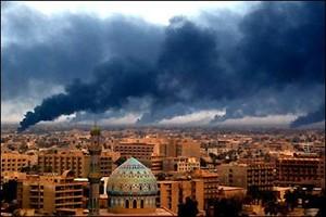 Baghdad bombardata