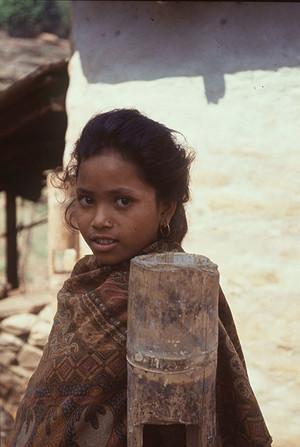 Una donna in una provincia del Nepal