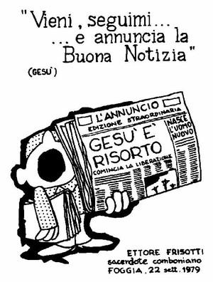 il santino che Ettore si fece per l'ordinazione sacerdotale