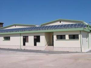 Foto pannelli fotovoltaici installati dalla Cooperativa Coldiretti di San Ferdinando di Puglia