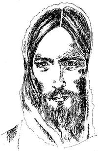 Disegno del volto di Gesù Cristo