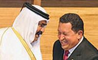 Chavez con un principe arabo dal sito www.peacereporter.net