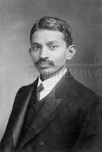 Ritratto di Gandhi giovane avvocato