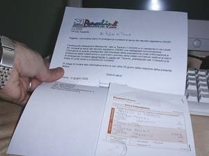 Lettera al Prefetto di Taranto per richiedere quella parte del piano di emergenza nucleare che interessa la popolazione civile
