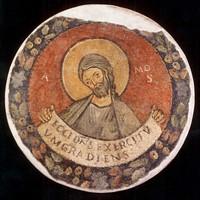 Affresco staccato da S. Nicola in Carcere, Roma.