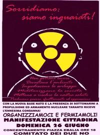 Manifestazione antinucleare a Taranto: aiutaci con un contributo sul conto corrente postale 13403746 intestato ad Associazione PeaceLink