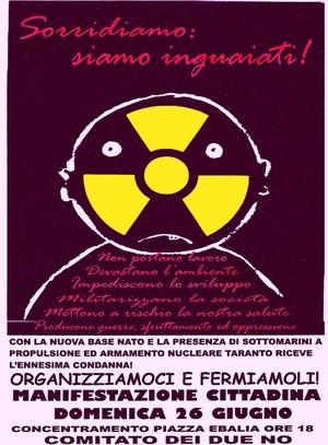Il logo della manifestazione del 26 giungo 2005 a Taranto