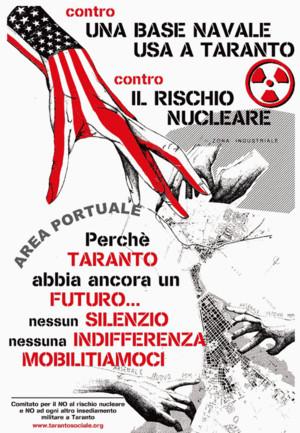 Un manifesto per la mobilitazione antinucleare a Taranto