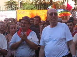 Piazza Alimonda, 20 luglio 2005. Arnaldo Cestaro e Giuliano Giuliani.