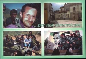 In alto è rappresentato un autoritratto di Raffaele Ciriello realizzato in Afghanistan nel 2001; in basso una foto, realizzata da Raffaele Ciriello, amico di Maria Grazia Cutuli, anch'essa giornalista del Corriere della Sera, uccisa in Afghanistan; in bas