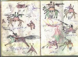 Il conflitto ne Darfur disegnato dai bambini: Abd al-Rahman, 13 anni.