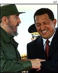 Fidel Castro e Hugo Chavez
