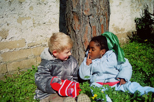 Una foto scattata all'asilo durante gli ultimi mesi del 2004