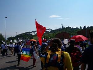 Alla marcia hanno partecipato 200 mila persone e da Taranto sono partite due corriere messe a disposizione dalla Provincia