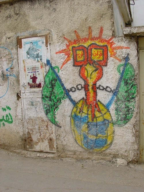 Betlemme: campo profughi di Aida, immagini di resistenza sui muri de campo