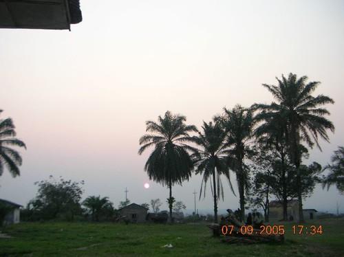 Tramonto a Kimbau visto dall'Ospedale