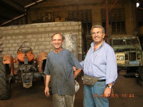 Io e Padre Antonio a Zongo (sulla strada Kenge-Kinshasa)