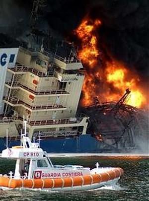 Un incidente ad una nave gasiera può comportare una sfera di fuoco del diametro di 3,8 chilometri