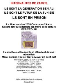 il 18 novembre sarà il compleanno di Mohamed Chalendi, uno dei 7 internauti di Zarzis