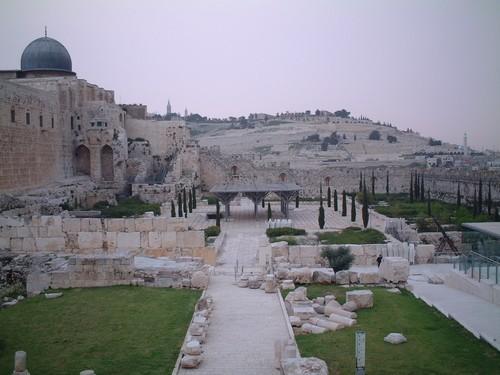 Gerusalemme: sullo sfondo, il monte degli ulivi