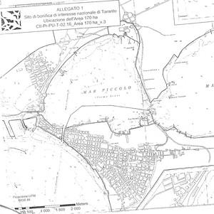 La zona dei dragaggi è delimitata nella mappa
