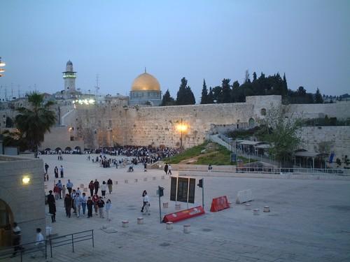 Gerusalemme: il muro del pianto e la moschea della roccia