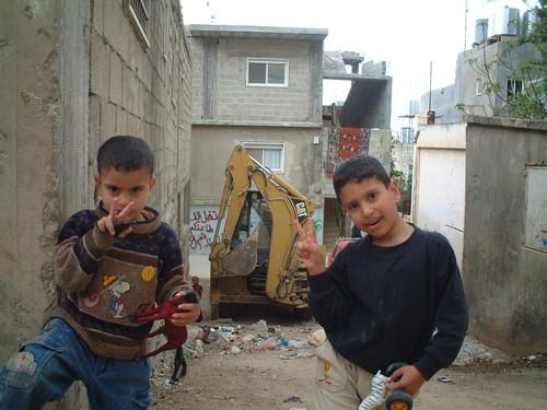 Bethlehem: campo profughi di Aida. Bambini palestinesi.