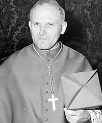 Papa Giovanni Paolo II durante il Concilio Vaticano II.
