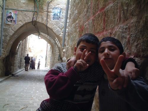 Nablus: bambini palestinesi
