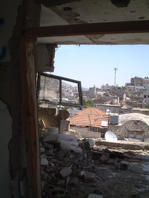 Nablus: casa distrutta