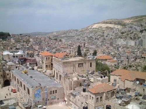 Nablus dall'alto