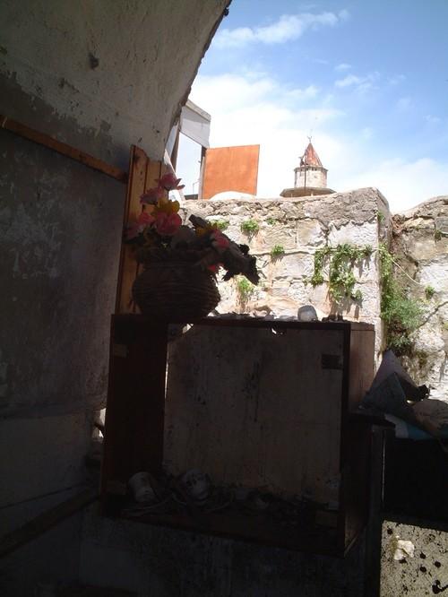 Nablus: i resti di una cucina di un'abitazione civile palestinese