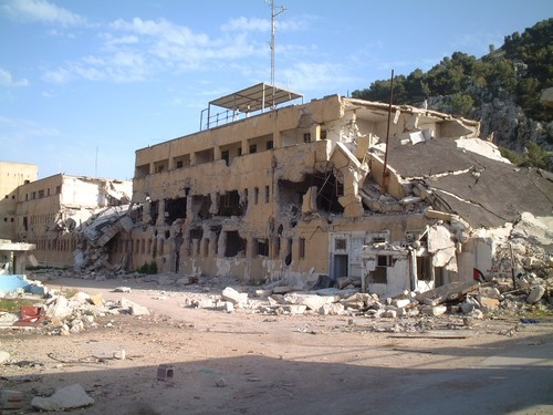 Il compound di Nablus, distrutto dai bombardamenti israeliani