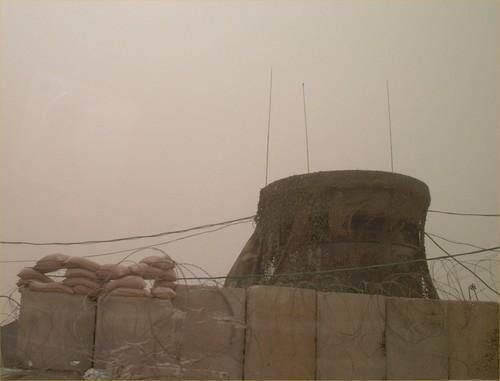 Check point di Abu Holi: la torretta dei soldati israeliani