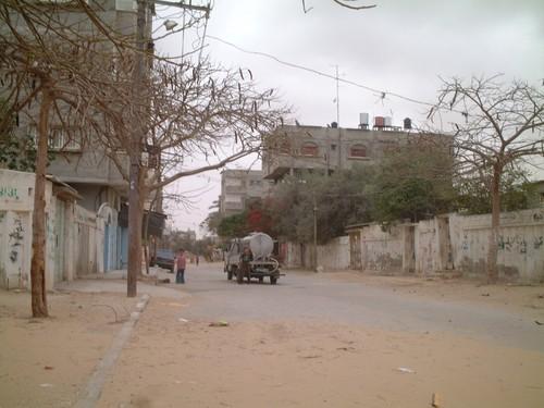 Rafah: il camioncino dell'acqua