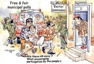 Vignetta satirica, dal Katmandhu Post.