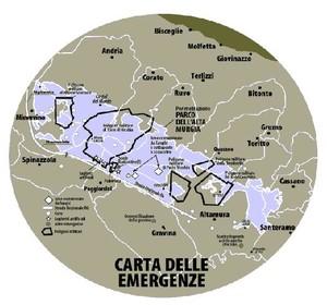 La mappa dei poligoni militari in Puglia