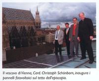 Pannelli fotovoltaici sul tetto dell'episcopio a Vienna
