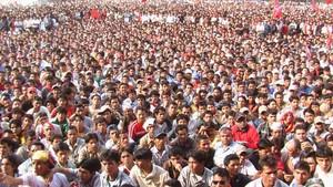 Enorme partecipazione popolare alla festa.