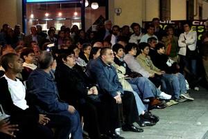 Uno scorcio del pubblico in piazza Ginori