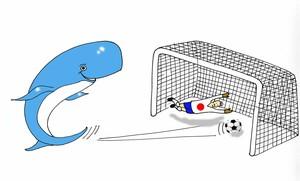 In pieno clima mondiale le balene segnano un importante gol al Giappone.