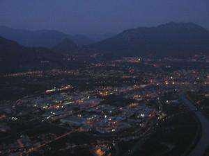 visione di Trento by night