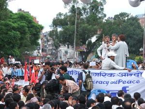 Comizi durante la manifestazione.