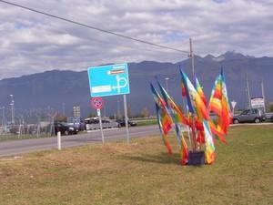 bandiere ad Aviano